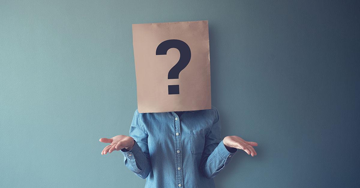 Ein Mensch mit Fragen